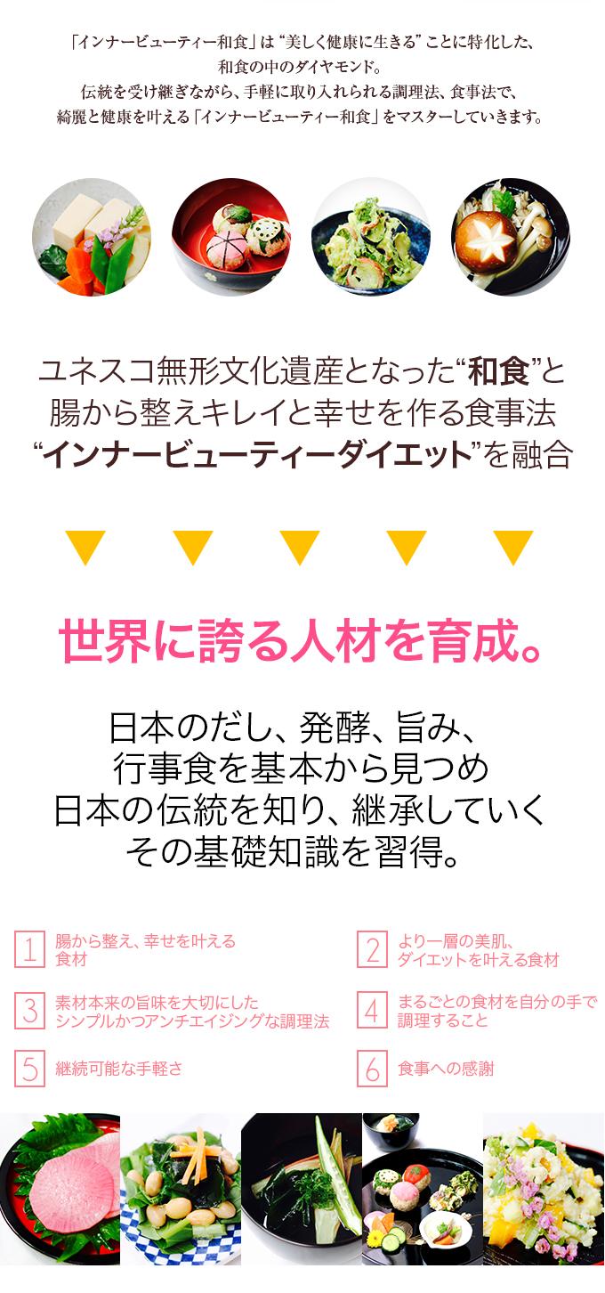 日本のだし、発酵、旨み、行事食を基本から見つめ、日本の伝統を知り、継承していくその基礎知識を習得。